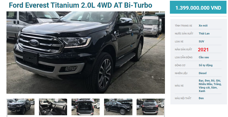 Ford Everest Titanium 4WD Hai Cầu