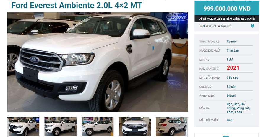 Ford Everest Ambiente MT 2021